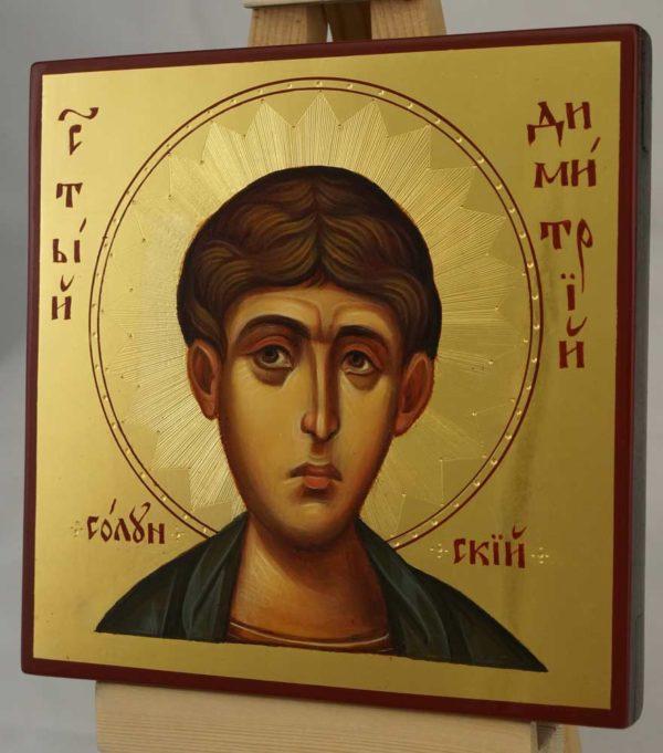 St Demetrius of Thessaloniki Hand Painted Byzantine Orthodox Icon