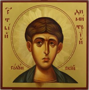 St Demetrius of Thessaloniki Hand Painted Byzantine Orthodox Icon