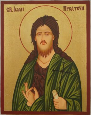 St John the Baptist Icon Hand Painted Byzantine Orthodox on Wood