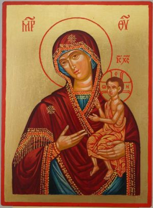 Theotokos Nurturer of Children Hand Painted Orthodox Icon on Wood