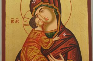Theotokos of Vladimir Hand Painted Icon Byzantine Orthodox on Wood