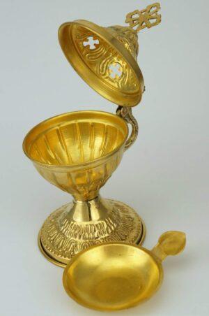 Brass Incense Burner engraved design