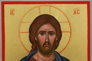 Jesus Christ Pantokrator Hand Painted Byzantine Orthodox Icon on Wood