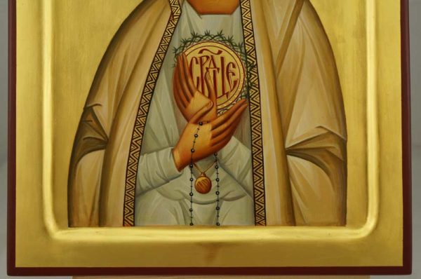 Our Lady of Fatima Hand Painted Orthodox Icon on Wood