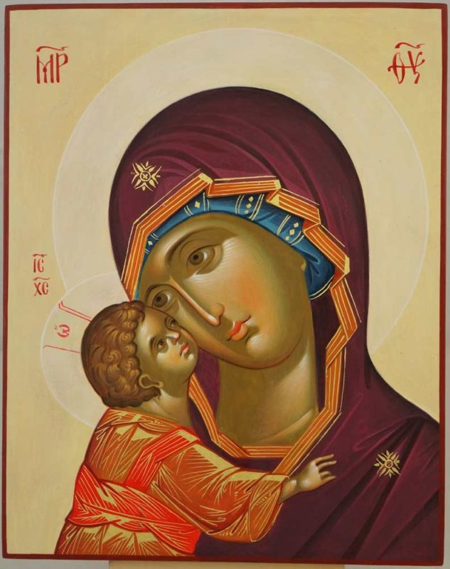 Our Lady of the Don Hand Painted Orthodox Icon on Wood