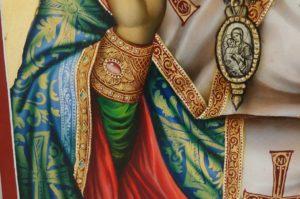 Saint Basil the Great Hand Painted Orthodox Icon on Wood