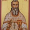 Saint John of Kronstadt Hand Painted Orthodox Icon on Wood