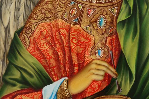 St Archangel Raphael Decorated Halo Hand Painted Orthodox Icon on Wood