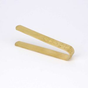 Brass Plated Tongs egraved