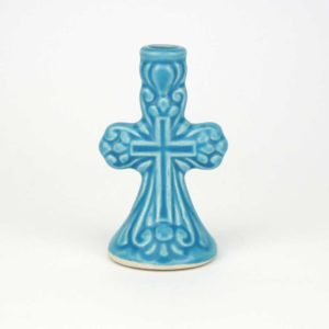 Ceramic Candle Holder cross design