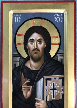 Christ Pantocrator Sinai Icon Hand Painted Byznatine Orthodox