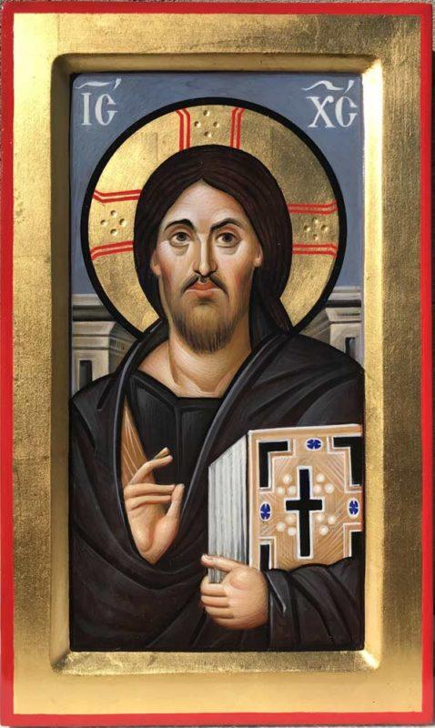 Christ Pantocrator Sinai Icon Hand Painted Byznatine Orthodox