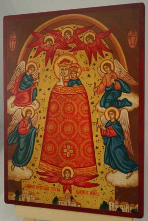 Mother of God Addition of the Mind Hand Painted Orthodox Icon on Wood