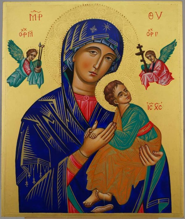 Our Lady of Perpetual Help OLPH Hand Painted Orthodox Icon on Wood