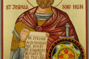 Righteous Joshua the son of Nun Navi Large Hand Painnted Orthodox Icon on Wood