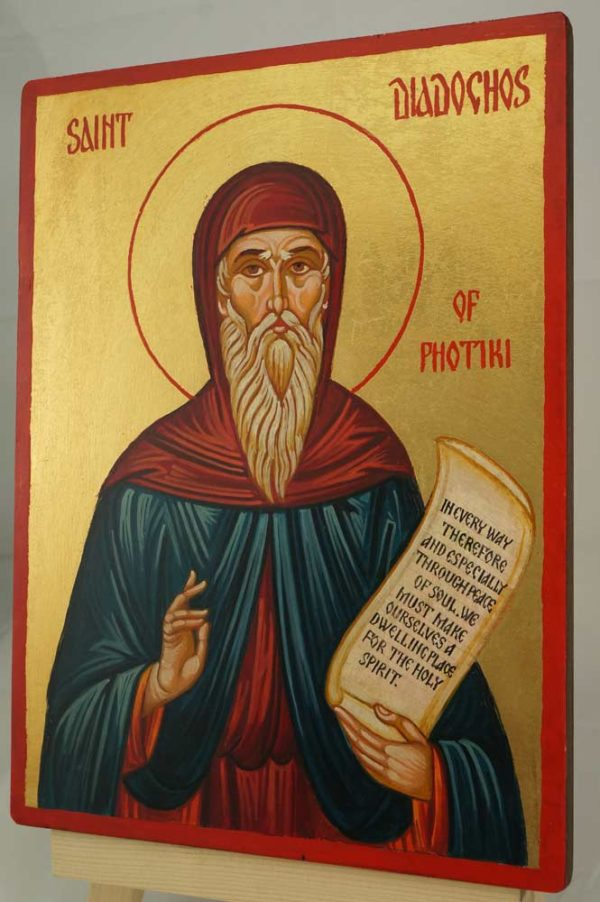 Saint Diadochos of Photiki Hand Painted Orthodox Icon on Wood
