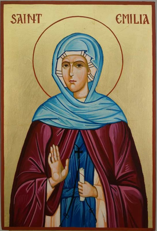 Saint Emilia Hand Painted Orthodox Icon on Wood