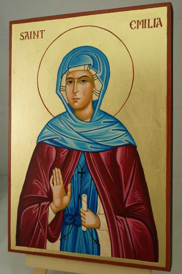 Saint Emilia Large Hand Painted Orthodox Icon on Wood