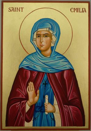 Saint Emilia Large Hand Painted Orthodox Icon on Wood