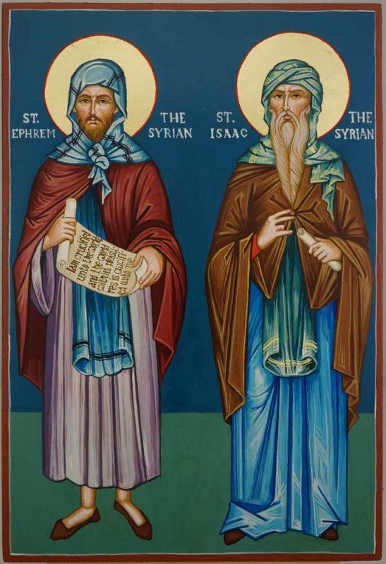 Saint Ephrem Ephraim the Syrian Saint Isaac the Syrian Hand Painted Orthodox Icon