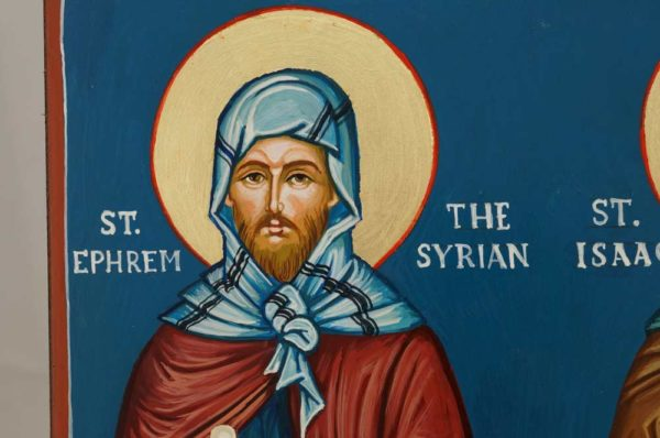 Saint Ephrem Ephraim the Syrian Saint Isaac the Syrian Hand Painted Orthodox Icon