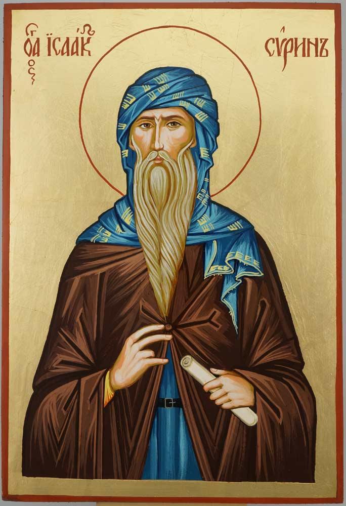 Saint Isaac the Syrian Icon Large Hand Painted Byzantine Orthodox