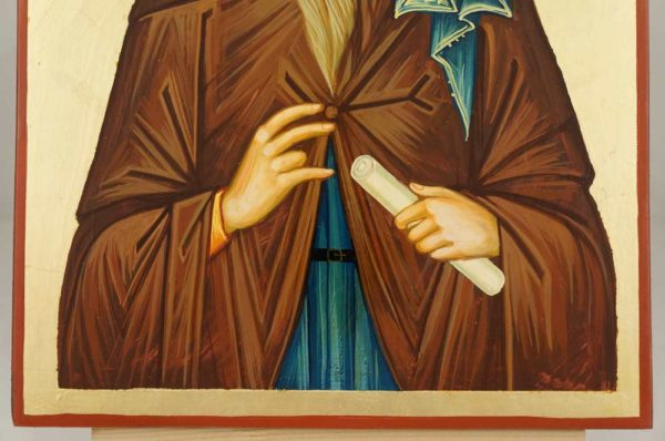 Saint Isaac the Syrian Large Hand Painted Orthodox Icon on Wood