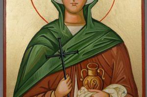 Saint Joanna Hand Painted Orthodox Icon of Wood
