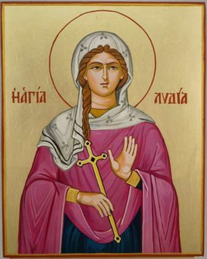 Saint Lydia of Philippi Hand Painted Orthodox Icon on Wood
