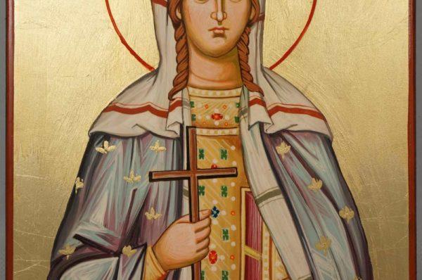 Saint Olympia Hand Painted Orthodox Icon on Wood