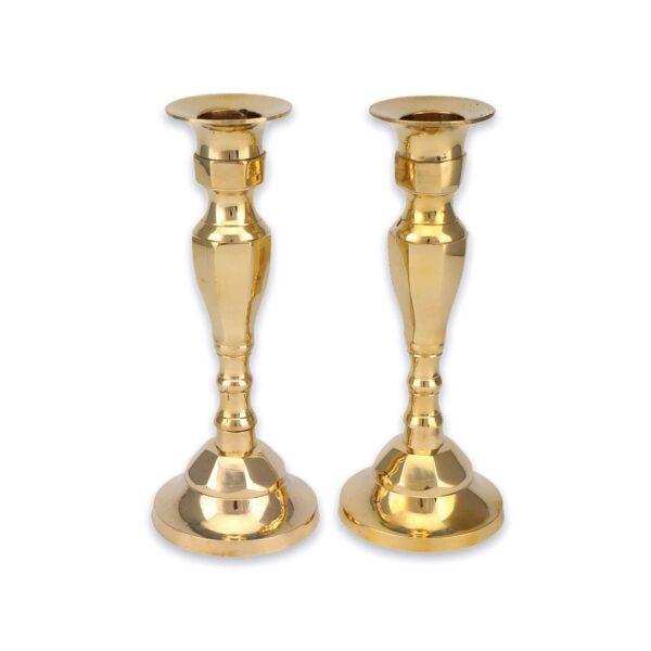 Set of Brass Candlestick Holders