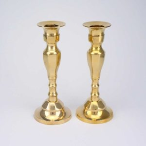 Set of Brass Candlestick Holders