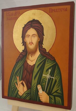 St John the Baptist Hand Painted Byzantine Orthodox Icon on Wood
