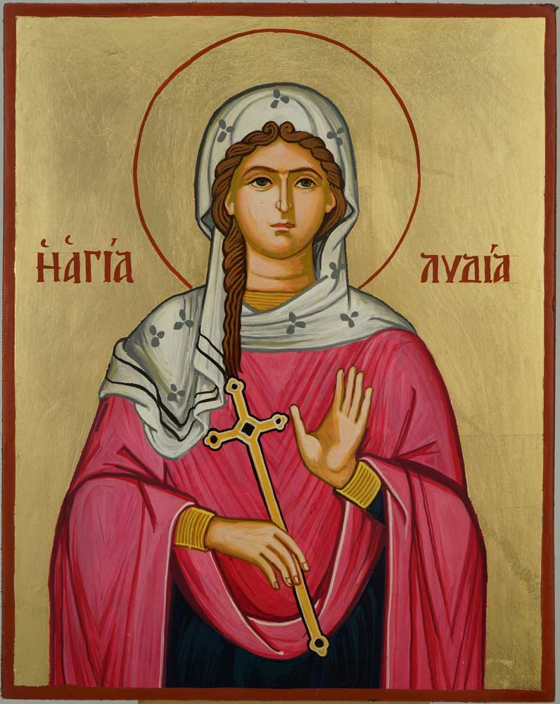 St Lydia of Philippi Icon Hand Painted Orthodox