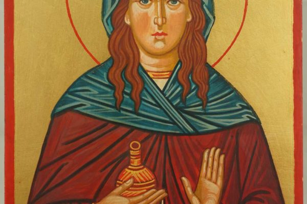 St. Mary of Bethany Hand Painted Orthodox Icon on Wood
