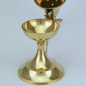 Traditional Design Brass Incense Burner decorated handle