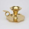 Traditional Polished Brass Chamberstick Taper Candle Holder