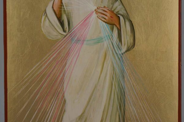 Christ Divine Mercy Icon Hand Painted Roman Catholic
