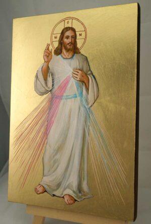 Christ Divine Mercy Large Hand Painted Roman Catholic Icon