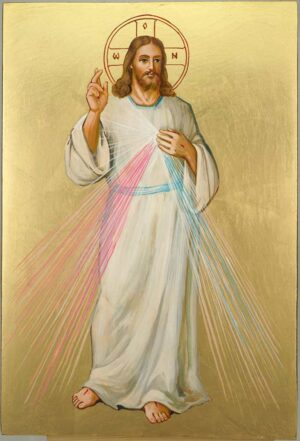Christ Divine Mercy Large Hand Painted Roman Catholic Icon