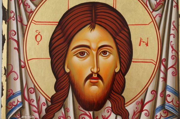 Christ Holy Face Mandylion Icon Hand Painted Byzantine Orthodox