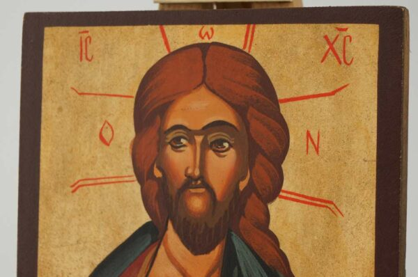 Christ the Teacher Icon Hand Painted Byzantine Orthodox