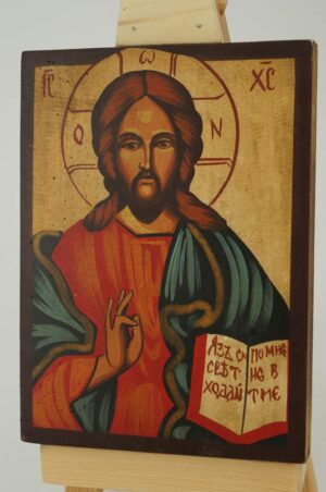 Christ the Teacher small Icon Hand Painted Byzantine Orthodox