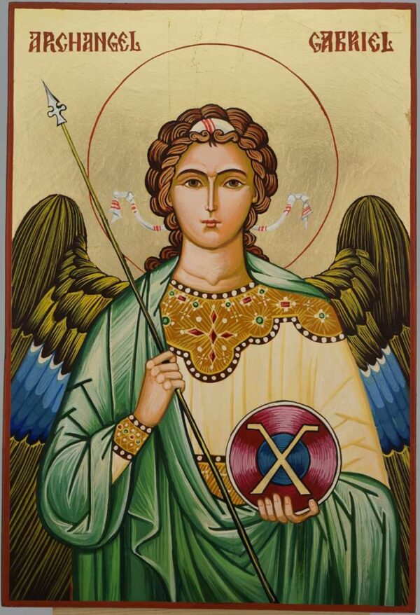 Gabriel the Archangel Large Icon Hand Painted Byzantine Orthodox