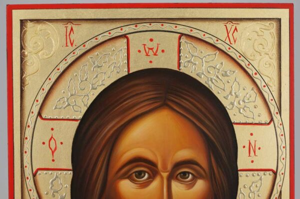 Jesus Christ Icon Hand Painted Byzantine Orthodox