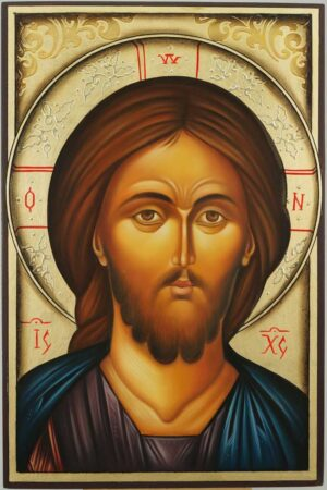 Jesus Christ Icon Hand Painted Orthodox