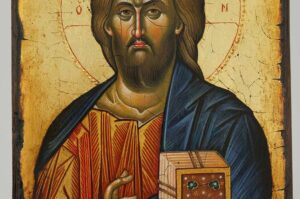 Jesus Christ Pantocrator Icon Hand Painted Byzantine Orthodox