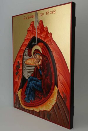 Nativity of Christ Icon Hand Painted Byzantine Orthodox