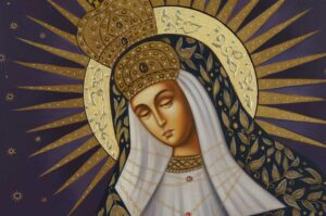 Our Lady of the Gate of Dawn Icon Hand Painted Orthodox