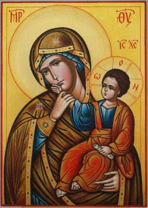 Panagia Paramythia Icon Hand Painted Byzantine Orthodox